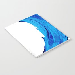 Pure Water 312 - Blue Abstract Art By Sharon Cummings Notebook