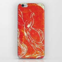 Peacock of Fire iPhone Skin