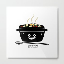 Korean Spicy soft Tofu Stew soup Sundubu jjigae hot Metal Print