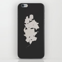 """Photogram of two leaves """"shattered"""" iPhone Skin"""