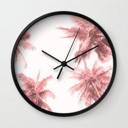 California Dreamin' in Pink Wall Clock
