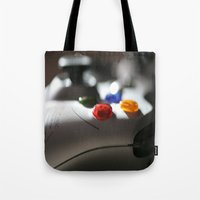 xbox Tote Bags featuring xbox 360 by STEPHANIE MCARTHUR PHOTOGRAPHY