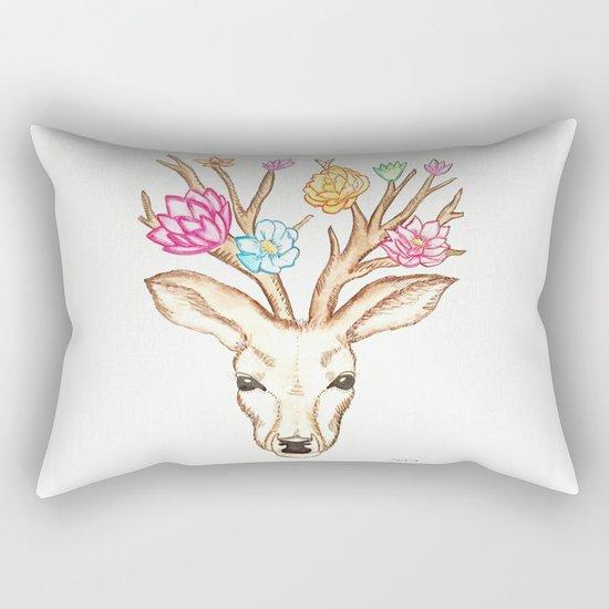 Deer with flowers Rectangular Pillow