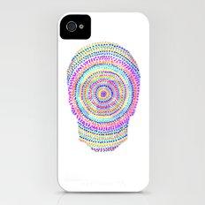 divisionism skull mandala iPhone (4, 4s) Slim Case