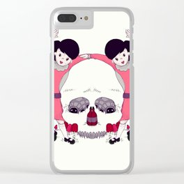 Party Skull Clear iPhone Case