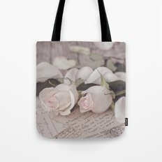 Pink Rose nostalgic Still Life Tote Bag