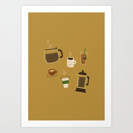 All the Coffee Art Print