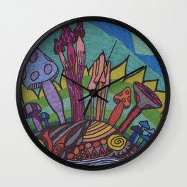 Mad for Mushrooms Wall Clock