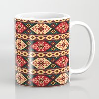 kilim Mugs featuring Colorful Kilim by Pattern Design
