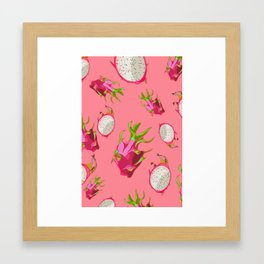 Dragonfruit Pattern Framed Art Print
