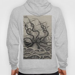 """The octopus; or, The """"Devil-fish"""" - Henry Lee - 1875 Giant Octopus Sinking Ship Hoody"""