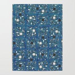 Blue tech Poster