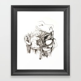 Anatomy: Study 1 Salivating Zombie Framed Art Print