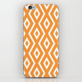 Orange Diamond Pattern iPhone Skin