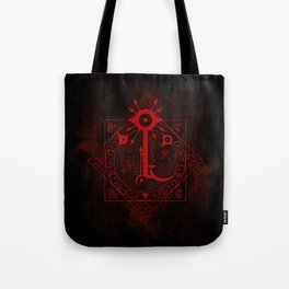 IS Symbol on Red Tote Bag