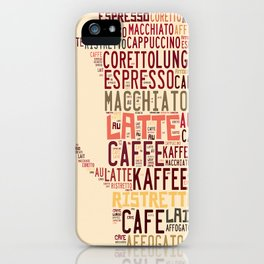 many types of coffee iPhone Case