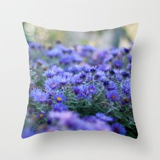 Sea of Asters Throw Pillow