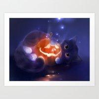pumpkin Art Prints featuring Pumpkin by apofiss