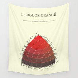 Le Rouge-Orangé (ses diverses nuances combinées avec le noir) Remake Wall Tapestry