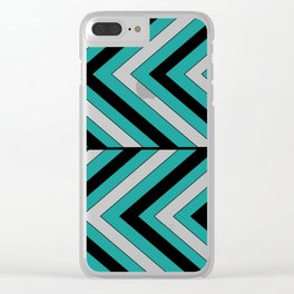 Pattern Turquoise 1 Clear iPhone Case
