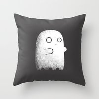 ghost Throw Pillows featuring Ghost by Krisren28