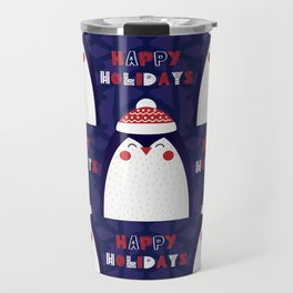 Merry Penguin Travel Mug