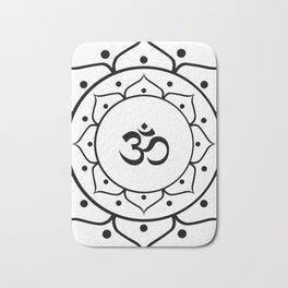 Om Black & White Mandala Bath Mat