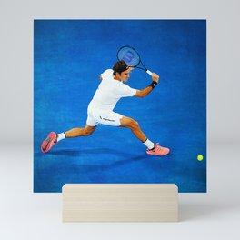 Roger Federer Sliced Backhand Mini Art Print