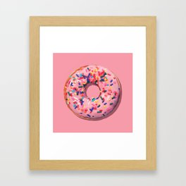Pink Donut Framed Art Print