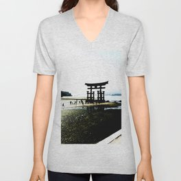 The Gate of Miyajima Unisex V-Neck