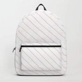 Bridal Blush Stripe Backpack