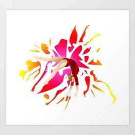 Power of Gymnastics Art Print