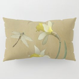 Daffodil and Dragonfly Pillow Sham