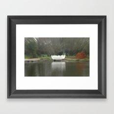 Swan Bridge Framed Art Print