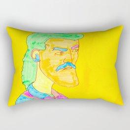 Moustache Mullet Man Rectangular Pillow
