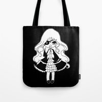 vampire diaries Tote Bags featuring ▴ vampire ▴ by PIXIE ❤︎ PUNK