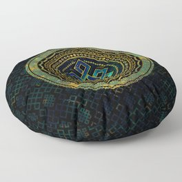 Marble and Abalone Endless Knot  in Mandala Decorative Shape Floor Pillow