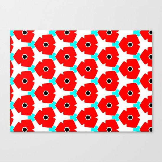 Herweije Retro Flower Pattern Canvas Print