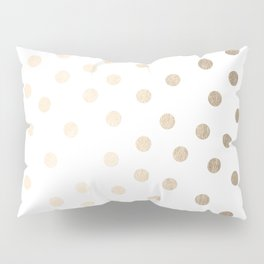 Simply Dots in White Gold Sands Pillow Sham