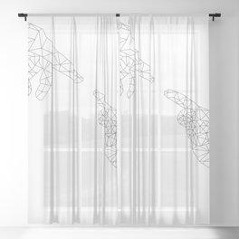 Michelangelo Reloaded (in white) Sheer Curtain