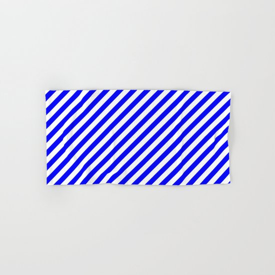 Diagonal Stripes (Blue/White) Hand & Bath Towel
