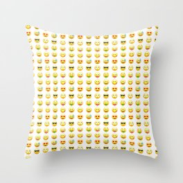 Emoji pattern Throw Pillow