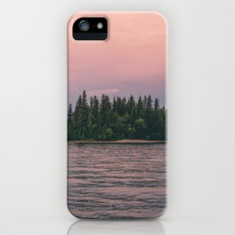 Lonely Island on Lac Saint-Jean iPhone Case
