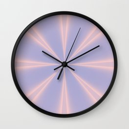 Fractal Pinch in Rose Quartz and Serenity Wall Clock