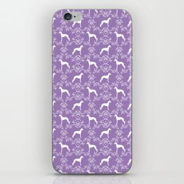 Italian Greyhound silhouette floral dog breed unique pet breed gifts iPhone Skin