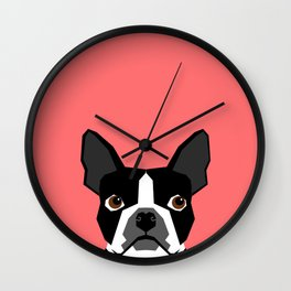 Kennedy - Boston Terrier cute dog themed gifts for small dog owners and Boston Terrier gifts  Wall Clock