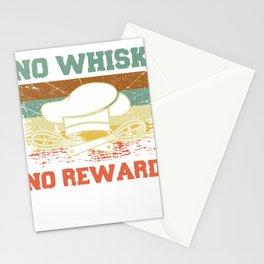 No Whisk No Reward - Funny Baking Pun & Cooking T-Shirt Stationery Cards