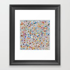 Splash dots Framed Art Print