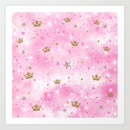 Pink Princess Art Print
