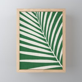 Minimalist Palm Leaf Framed Mini Art Print